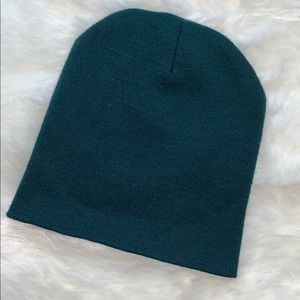Accessories - Teal Ribbed Knit Foldover Beanie